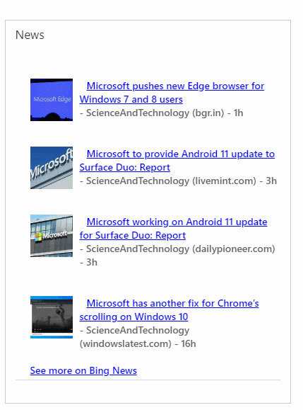 Company News Component