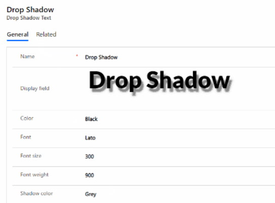 DropShadow Text