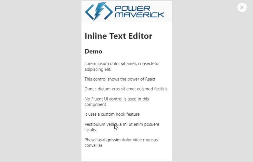 Inline Text Editor