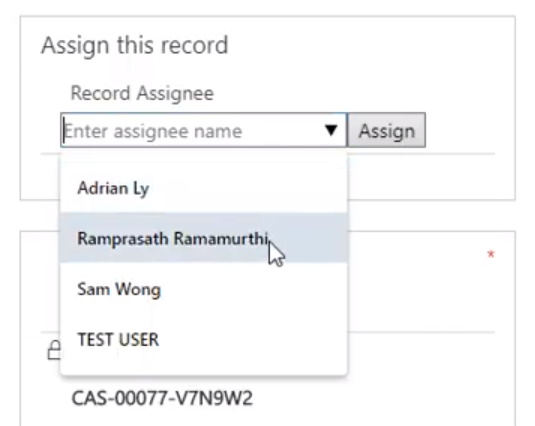 Quick Assign Record Control