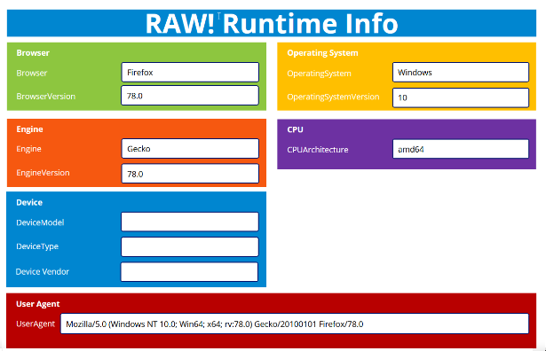 Runtime Info